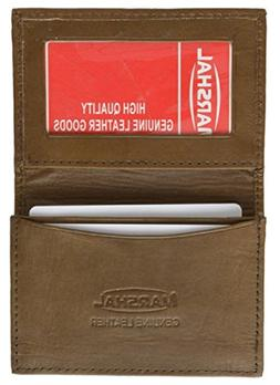 New Leather Bi-fold Credit Card Holder Brown