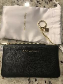 Michael Kors Leather Black Keychain Coin Purse Change Purse