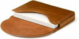 MaxGear Leather Business Card Holder Case for Men or Women N