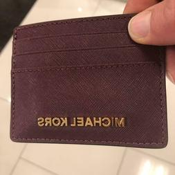 Michael Kors Leather Credit Card Case Holders For Women Wall