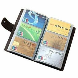 Leather Credit Card Holder Business ID Card Case Book Style
