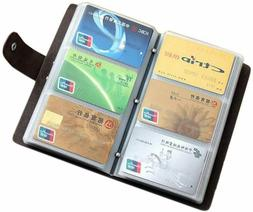 Leather Credit Card Holder Business ID Name Card Case Book S