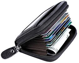 MaxGear Leather Credit Card Holder Credit Card Wallet with Z