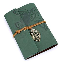 Leather Journal Diary Notebook, Refillable Travelers Vintage