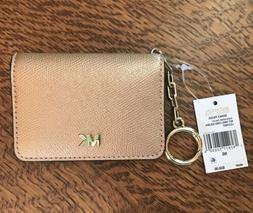 Michael Kors Leather Key Ring/Card Holder NWT