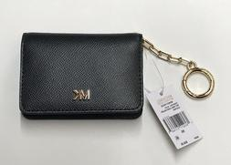 Michael Kors Leather Money Pieces Key Ring Card Holder Walle