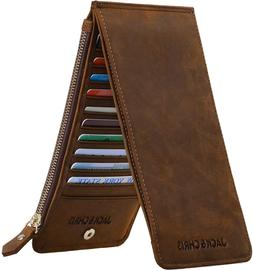 leather multi card organizer wallet thin credit