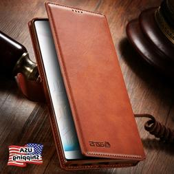 Leather Wallet Flip Card Holder Slot Cover Case For Samsung