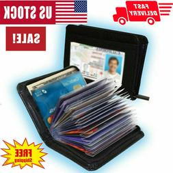 Lock Slim Wallet Secure Men Women RFID Blocking Money Credit