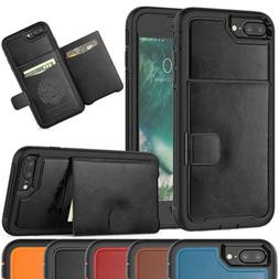 Luxury Credit Card Holder Phone Case with Bracket Cover For