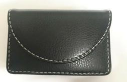 max gear pu leather business card holder b107 black