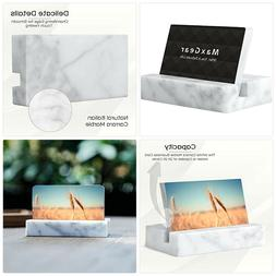 MaxGear Business Card Holder for Desk Marble Business Card D