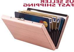 2pcs RFID Credit Card Holder Protector Stainless Steel Walle