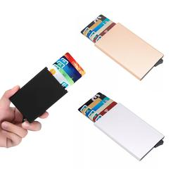 Men Credit Card Holder RFID Blocking ID Card Case Slim Money