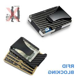 Men Credit Card Holder Wallet Gifts RFID Blocking Slim Money