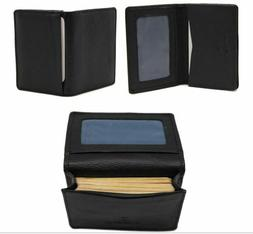 men leather bi fold wallets business card