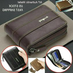 Men Men's Leather Wallet ID Credit Card Holder Clutch Bifold