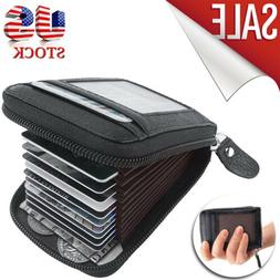 Men Normal Wallet Purse Credit Card Holder Leather RFID Bloc
