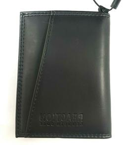 Kenneth Cole Reaction Men's RFID BLACK LEATHER Security Card