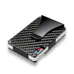 men rfid blocking slim money1 clip wallet