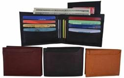 Men's Bifold Business/Credit Card Holder Detachable ID Leath