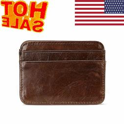 Men's Minimalist Front Pocket Wallet Slim & Thin & RFID Cred
