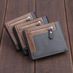 Men's Wallet Genuine Leather Credit Card Holder RFID Blockin