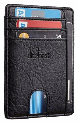 Men Slim Wallet Rfid Block Pocket Money Clip Thin Credit Car