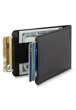 Men Wallet - RFID Minimalist Slim Front Pocket Card Travel H