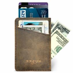 Huskk Men Wallet - Rfid Minimalist Slim Front Pocket Card Tr