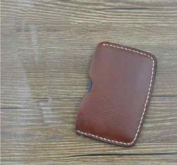 men women wallet cow Leather Card Cases ID driver license Ho