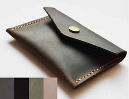 men women wallet purse cow Leather Card Cases ID Bifold Hold