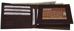 Mens Genuine Cowhide Leather Credit/ID Card Holder Bifold Wa
