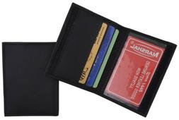 Mens Slim Bifold Black Leather Credit Card Holder Style ID M
