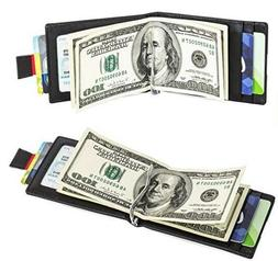 Mens Small Wallet Credit Card Ultra Slim Thin Holder Front P