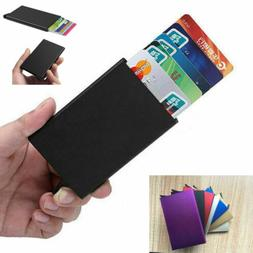 Mens Womens ID Credit Card Holder RFID Protector Aluminum Wa