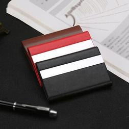mens womens metal id credit card holder