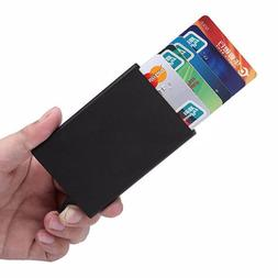 Mens Womens Metal ID Credit Card Holder RFID Protector Alumi