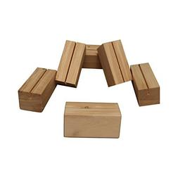 Menu Special Holder or Wood Business Card Holder Display 6 P