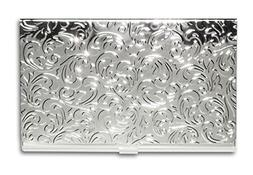 Metal Damask Embossed Business Card Case