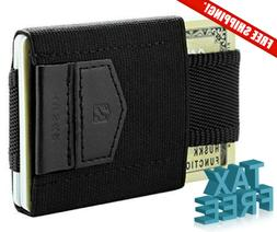 Huskk Minimalist Slim Wallet - 10 Card Holders - Cash Coins