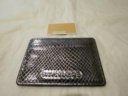 Michael Kors Money Pieces Credit Card Holder Lt Pewter Embos