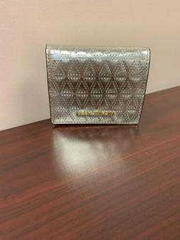 Michael Kors Money Pieces Leather Metallic Flap Card Holder