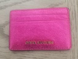 Michael Kors Money Pieces Ultra Pink Card Holder Leather  65