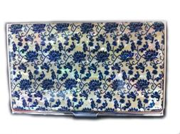 Mother of Pearl Black Business Credit Id Name Card Case Hold