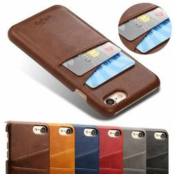 New Card Slot Holder Skin Leather Case Phone Back Cover For