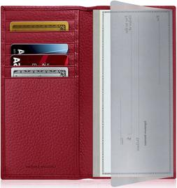 New Genuine Leather Checkbook Cover Card Holder Wallet Unise
