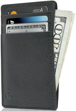 New Genuine Leather Slim Card Holder Wallets For Men - Minim