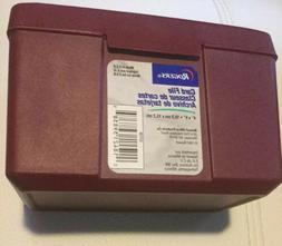 new maroon index recipe card file holder