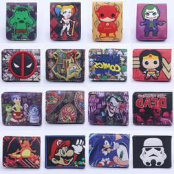 New Pokemon Star Wars Leather Wallet Coin ID Credit Card Hol